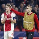 De Ligt, al final del partido ante el Madrid (Ajax)