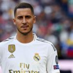 Hazard en su presentación / Real Madrid