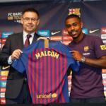 Bartomeu y Malcom, el día de la presentación del jugador (FC Barcelona)