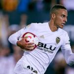 Rodrigo Moreno celebra un gol / Valencia