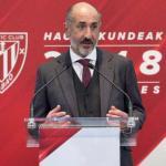 El presidente del Athletic critica la decisión de Álex Remiro / Twitter.