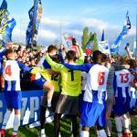 Los jugadores del Oporto celebran el título / Getty.