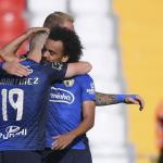 Los jugadores del Famalicão celebrando un gol. / 24.sapo.pt