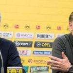 Lucien Favre y Michael Zorc, entrenador y director deportivo del Borussia Dortmund / Borussia Dortmund