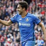 Jaime Mata, en un partido del Getafe CF.
