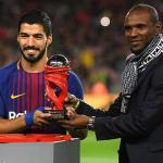Abidal junto a Luis Suárez / FC Barcelona