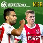 Falcao, De Ligt, Mbappé y De Jong / Fichajes.net.