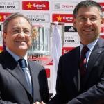 Florentino Pérez y Josep María Bartomeu. Foto: Besoccer.com