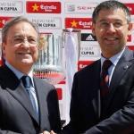Florentino Pérez y Josep María Bartomeu. Foto: Besoccer