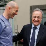 Zinedine Zidane y Florentino Pérez / realmadrid.com.