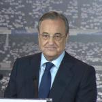 Florentino Pérez en una comparecencia ente los medios de comunicación. Foto: Youtube.com