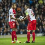 Mbappé y Falcao. Foto: AS Mónaco.