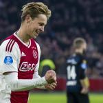 De Jong celebra un gol / Youtube