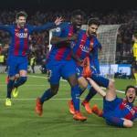 Los jugadores del Barça, celebrando un gol (FC Barcelona)
