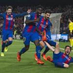 Piqué, André, Umtiti y Roberto (FC Barcelona)