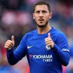 Hazard, durante un partido (Chelsea)
