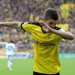 Pulisic, celebrando un gol (Borussia Dortmund)