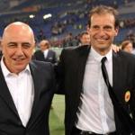 Adriano Galliani junto a Massimiliano Allegri