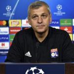 Bruno Génésio durante una rueda de prensa / UEFA
