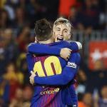 Messi y Deulofeu, con el Barça (EFE)