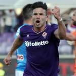 Giovanni Simeone celebra un gol con la Fiorentina / UEFA