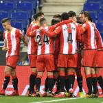 Jugadores del Girona celebran un gol / Youtube