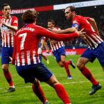 Godín, celebrando un gol / twitter