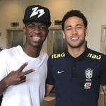 Vinícius Júnior y Neymar, en una foto de Instagram.