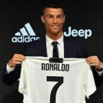 Cristiano Ronaldo, en su presentación con la Juventus.