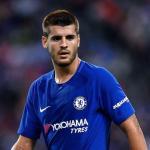 Morata, durante un partido con el Chelsea (Getty)
