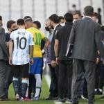 """La insólita situación que se ha vivido en el Brasil-Argentina """"Foto: La Nación""""."""
