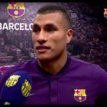 Jeison Murillo, en su presentación con el Barça. Foto: FCBarcelona.es