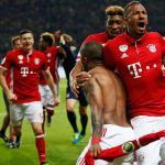 Jugadores bávaros celebran un gol (Bayern de Múnich)