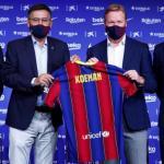 Los tres futbolistas que aspiran a ser el nuevo '9' del FC Barcelona. Foto: Diario AS