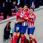 Jugadores del Atlético de Madrid celebrando un gol. Foto: Telemadrid