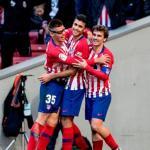 Jugadores del Atlético celebrando un gol. Foto: Telemadrid.es