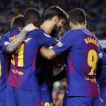 Jugadores del FC Barcelona celebrando un gol. Foto: Besoccer