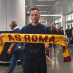 Kalinic en su llegada a Roma / calciomercato.com