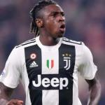 Moise Kean, en un partido / Juventus.