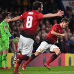 Ander Herrera celebra un gol con el United (EFE)
