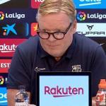 Koeman, en el Barça no se admiten perdedores como tú. Foto: Barça TV