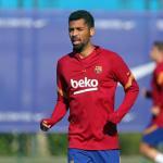 La rajada de Matheus Fernandes a Koeman / FCBarcelona.es