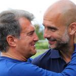 Laporta quiere traer a Guardiola como entrenador en 2021. Foto: Getty