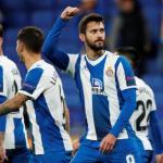 El Espanyol celebrando la victoria ante el Ludogorets. / lavanguardia.com