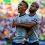 "Lautaro Martínez es el 9 que enamora a Pep Guardiola ""Foto: Manchester Evening News"""