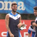 Leo Baptistao en un entrenamiento del Espanyol. Foto: Youtube.com