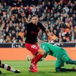Primer gol de Marcos Llorente en la Liga. Foto: EFE.
