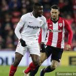 Ibrahim Amadou en un partido del Sevilla FC / Getty
