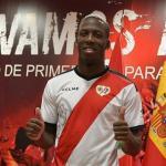 Luis Advíncula en su presentación como jugador del Rayo Vallecano. Foto: Youtube.com