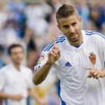 Luis García celebra un gol con el Zaragoza/lainformacion.com/Agencia EFE
